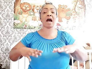 Nigerian mommy shows how to massage and milk her massive udders