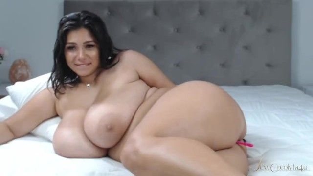Very hawt bbw latin babe with astounding natural large mounds and wet body