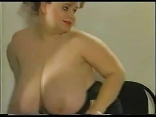 Plumper with biggest hanging love melons and large areolas