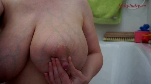 Large engorged titties lactating