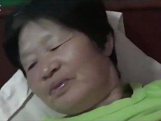 Riding oriental non-professional granny