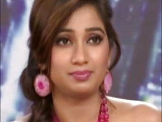 Indian singer shreya ghoshal showing sexy milk sacks on a tv show