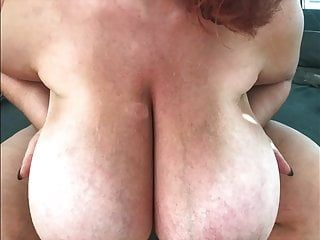 Ginger-busty monster pantoons from behind fuck slomo