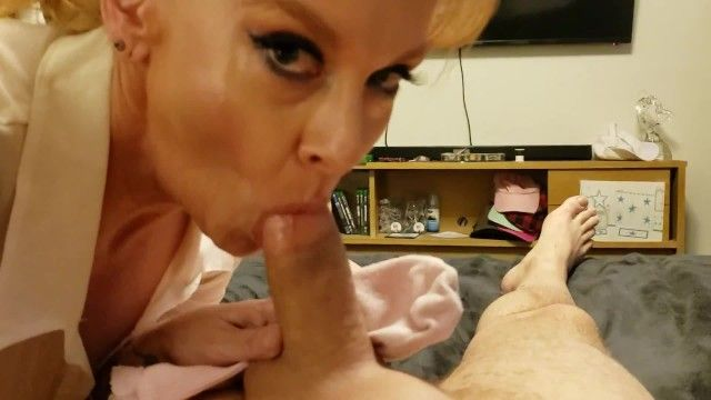 Thick pawg aged stepmom catches son jerking off w her sock taboo roleplay